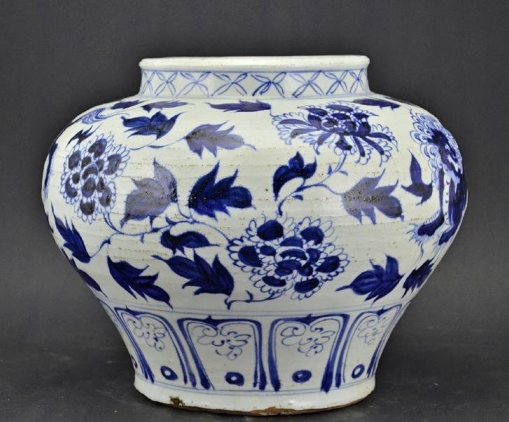 Blue And White Jar, Yuan Dynasty