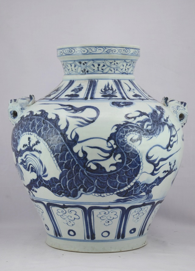 Blue and White Dragon Jar, Yuan Dynasty