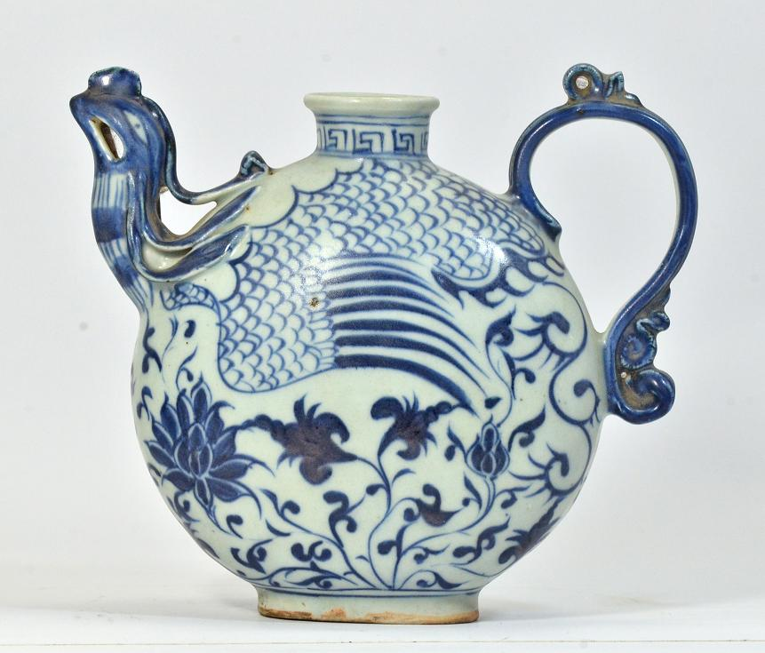 Blue and White Ewer, Yuan Dynasty
