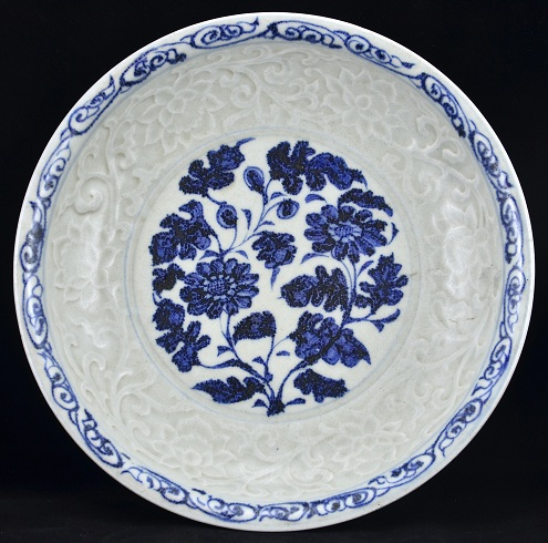 Blue and white Plate, Yuan Dynasty