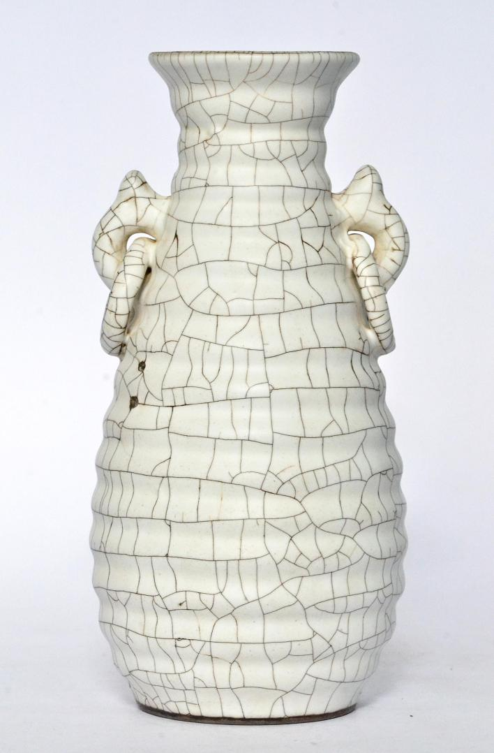 A Rare White Ge Ware Vase, Song Dynasty