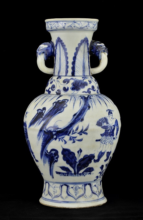 Blue and White Vase, Yuan Dynasty