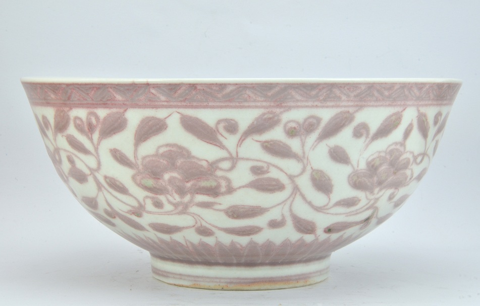 Red Flower Bowl, Ming Dynasty